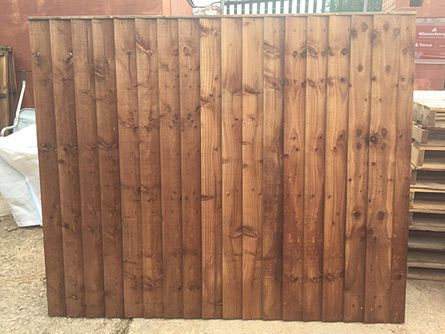featheredge fence panel pressure treated and tanalised