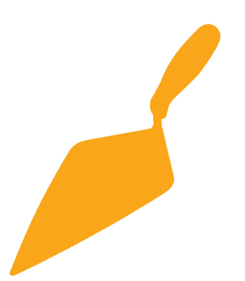 Heritage Builders Merchants Ltd. Yellow Trowel Icon